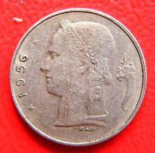 SCARCE & COLLECTABLE  BELGIUM VINTAGE 1956    ONE FRANC COIN  21 mm DIAMETER