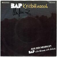 """BAP    Kristallnaach - 7"""" Single 1982, Coverhülle SIGNIERT Wolfgang NIEDECKEN !"""