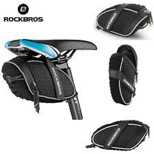 RockBros Waterproof Bicycle Saddle Seat Bag Reflective Rear Tail Bike Bag Black