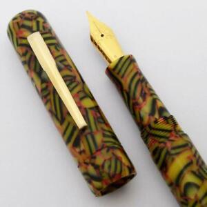 Peyton Street Pens Zayante Acrylic Fountain Pen - Bengal Tiger, JoWo #6 Nib