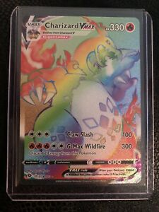 Pokémon Champions Path 74/73 Charizard Vmax Rainbow Rare Mint Pack Fresh Psa 910