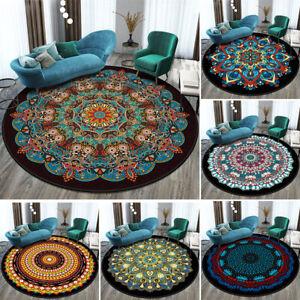 12 Color Round Rug Bohemia Non-Slip Floor Mat Carpet Mandala Soft Home Decor