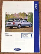 1992 Ford autos FOLLETO Inc Cabrio Escort XR4x4 Fiesta XR2i ORION SCORPIO 24V