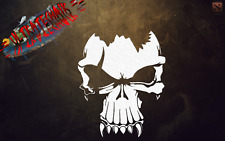 BLOOD SKULL STANDARD LAYER  SKULL INFERNAL AIRBRUSH STENCIL TEMPLATE