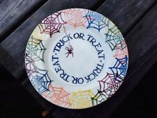 More details for gorgeous  emma bridgewater cobweb trick or treat halloween 8.5 inch plate  1st