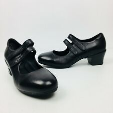 SFC Shoes for Crews Tango Black Leather Womens Shoes Heels MJ 3702 Size 8.5