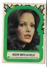 Vintage CHARLIE'S ANGELS Sticker Card - 1977 Topps / Jaclyn Smith as Kelly #20