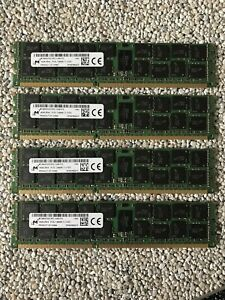 Micron 64GB (4 x 16 GB) DDR3-1600 PC3-12800R MT36KSF2G72PZ-1G6E1FG CL11 Ram