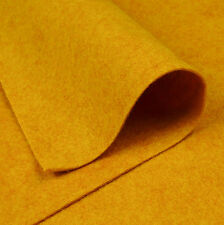 Woolfelt Mustard ~ 22cm x 90cm / quilting wool felt fabric honey yellow gold