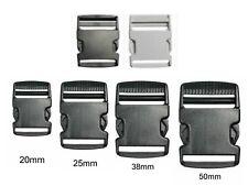 Plástico Deslizar Liberación Hebillas para Correas con (16MM-50MM) Negro / White