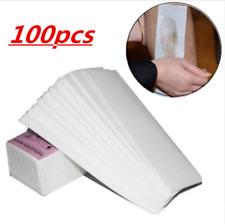 100pcs Salon Depilatory Paper Waxing Strips Non Woven Legs Body Hair Removal
