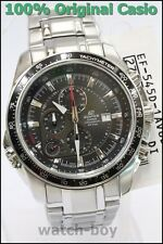 EF-545D-1A Black Men Casio Edifice Alarm Stopwatch 100M Analog Stainless Steel
