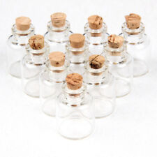 Clear Glass Empty Bottles Jars Containers Cork for Diy Crafts Liquid 10 pieces