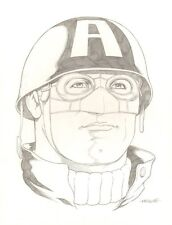 Ultimate Wwii Captain America Portrait Pencil Commission 2013 by Kevin Maguire