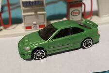 HOT WHEELS HONDA CIVIC SI COUPE GREEN CUSTOM VERY COOL JDM SEE PICTURES