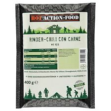 (18,48€/kg) HOT ACTION-FOOD Rinder-Chili con carne 400g selbsterhitzend MRE