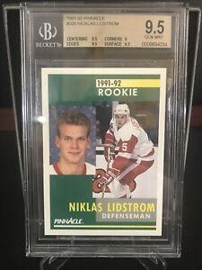 1991-92 Pinnacle. RC. BGS 9.5! Nicklas Lidstrom. Graded.