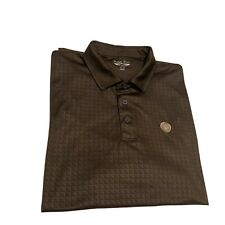 Straight Down Polo Golf Shirt Size Xl Patterned Brown *The Lakes Castle Hills*