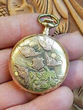 VINTAGE~Waltham 1911 Grade 255 0s 15 jewels 14k Tri Color Gold Hunter  Watch