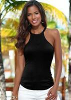 2019 Tank Top Women Sexy Round Neck Sleeveless Harness Slim Shirt Vest Tops
