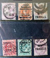 GB QV & KEVII 1882-1903 - overprinted Inland Revenue, Govt. Parcels CV £145