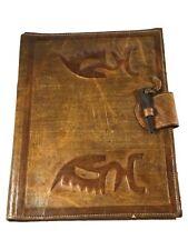 Chiwara Vintage Tuareg Leather Folder/Made in Mali/ Meeting Handmade Leather