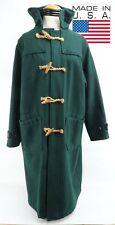 Mens Polo Ralph Lauren Green 100% Wool Duffle Coat Toggle Hooded Size XL USA