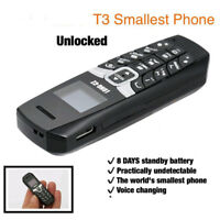 Unlocked Worlds Smallest Bluetooth Voice Changer Mini Cell Phone Long CZ T3