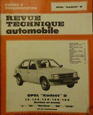 NEUF Revue technique OPEL KADETT D 1.2 1.2S 1.3S 1.6S 1.8E  GL GTE RTA CIP 4053