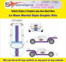 LOTUS Exige Series 2 Le Mans Martini Race Rally Logo Graphics Kit 5