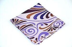 Lord R Colton Masterworks Pocket Square - Lavender Hysteria Check - Silk $75 New
