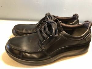 Clarks Men's Leather Black Lace Up Shoes Size UK 9G