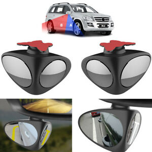 2pcs (Left+Right) HD Side View Car Adjustable Blind Spot Wide Angle Rear Mirrors
