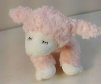 Baby Gund 58131 Winky Pink Lamb Lovey SOFT Plush Stuffed Animal Baby Rattle Doll