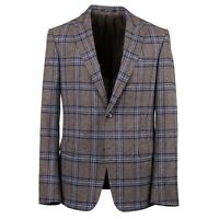 Z Zegna Slim-Fit Layered Check Woven Melange Wool-Silk Sport Coat 44R