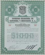 MEXICO B/35a SOCIEDAD FINACIERA DE INDUSTRIA Y DESCUENTO $1,000 de 1945      145