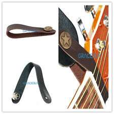 Genuine Real Leather Strap Button for Acoustic / Folk / Classic Guitar 2 PCS New