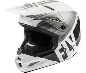 Fly Kinetic Cold Weather Helmet White/Grey/Black 2X