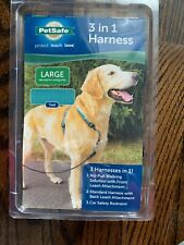 PetSafe 3 in 1 Harness with 2-point Leash NIB NEW Large Black FREE SHIP!