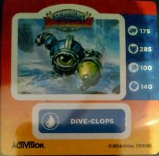 Dive-Clops Skylanders Superchargers Sticker Only!
