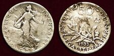 FRANCE 50 centimes 1903 silver
