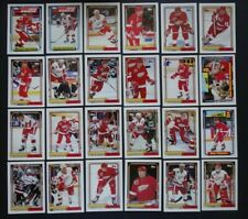 1992-93 Topps Detroit Red Wings Team Set of 24 Hockey Cards