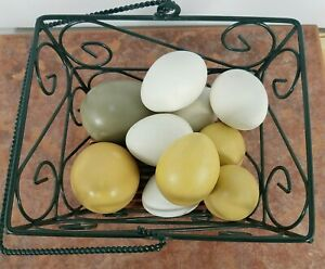 Artificial Nesting Eggs Fake Chicken Trainers House Decor 11Pcs Home See Picture