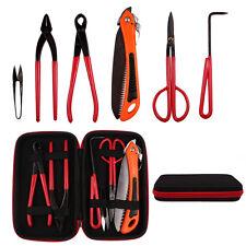 6 Bonsai Tools Case Kit Garden Hand Tool Plant Cutter Scissor Trimming Equipment