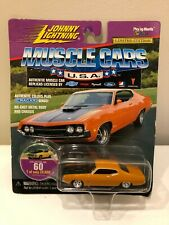 Johnny Lightning Die Cast Muscle Cars USA  1970 Ford Torino Orange Rare