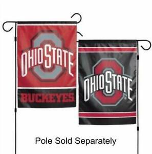 The Ohio State 2 Sided Double Garden Flag Outdoor Window Banner Buckeyes OSU