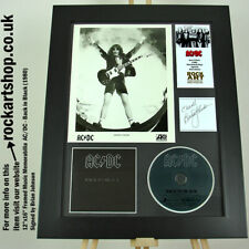 More details for ac/dc signed brian johnson back in black autographed publicity photo angus young