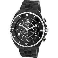 Men's Matte Silicone/Rubber Case Round Wristwatches