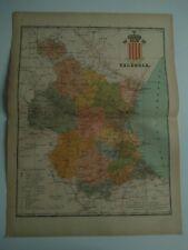 1913 MAPA de Valencia Benito Chias y Carbo (Spain Map España Spagna)
