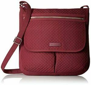NWT Vera Bradley Iconic Mailbag Crossbody Bag Microfiber Hawthorn Rose